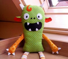 Monster Doll pdf sewing pattern - Halloween softie Stuffed toy. $9.00, via Etsy.