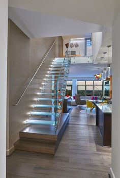 Elegant Glass Stairs Design Ideas For You This Year 33 Stair Railing Ideas design Elegant Glass ideas Stairs Year Luxury Staircase, Small Staircase, Modern Staircase, Glass Stairs Design, Stair Railing Design, Railing Ideas, Dream Home Design, House Design, Cafe Design