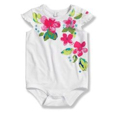 Carhartt Flower Bodysuit in White/Pink - buybuyBaby.com