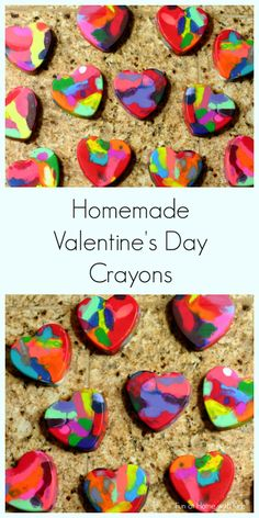 Making Valentine Heart Crayons from Fun at Home with Kids