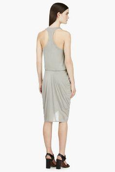 HELMUT LANG Grey Jersey Racerback Dress