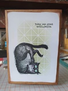 Cat Cards, Greeting Cards, Stampers Anonymous, Ranger Ink, Animal Cards, Stamping Up, Tim Holtz, Crazy Cats, Diy Beauty
