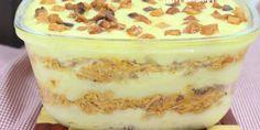 Os Ingredientes são: 3 batatas 1 colher (sopa) de margarina 100ml de leite Sal (a gosto) 100g de bacon 1 cebola picada 2 dentes de alho picado 1 tomate picado 4 xícaras (chá) Frango cozido e desfiado Pimenta-do-reino (a gosto) Orégano (a gosto)... Carne, Tiramisu, Recipies, Pudding, Cooking, Ethnic Recipes, Desserts, Food, 1