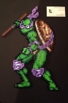 Teenage Mutant Ninja Turtles Donatello Perler bead Sprite by RatedEforEveryone