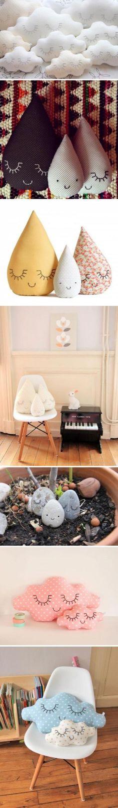 弯弯的睫毛,手工抱枕。简单的创意缝制,让抱枕更加萌趣。(图片转自:万椅网 http://www.w-yi.com/album)