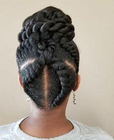 Most Popular Updos for Black Hair Goddess Braided Updo – Schwarze Frisuren Black Hair Updo Hairstyles, New Natural Hairstyles, Trending Hairstyles, Braided Hairstyles, Natural Hair Styles, Beautiful Hairstyles, Pixie Hairstyles, Bun Updo, Braided Updo