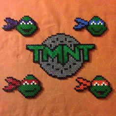 TMNT set hama perler beads by paperwolvy