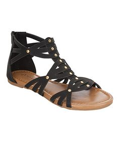Loving this Black Crisscross Gladiator Sandal on #zulily! #zulilyfinds