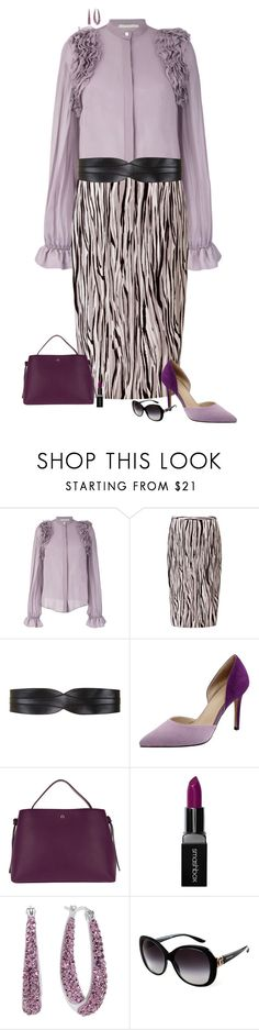 """""""Shades of purple"""" by julietajj ❤ liked on Polyvore featuring Amen, Pure Collection, BCBGMAXAZRIA, Etienne Aigner, Smashbox and Bulgari"""