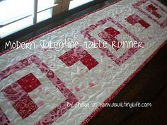 A Quilting Life: Modern Valentine Table Runner Tutorial