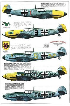 Bf109 E, E1, E3, E4, E7 and E9 Trop variants plus the Span… | Flickr