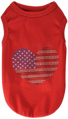 Parisian Pet USA Flag Dog T-Shirt, Large -- Discover this special dog product, click the image : Dog Shirts
