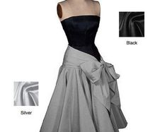 Bombshell Screen Siren 1950s 50s style Formal Black-tie Dress... Corseted Bodysuit Bow style Skirt... Buyer's Choice Color... All sizes