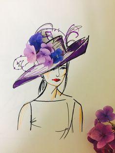 Fashion illustration made from fresh flowers, by Sara Japanwalla