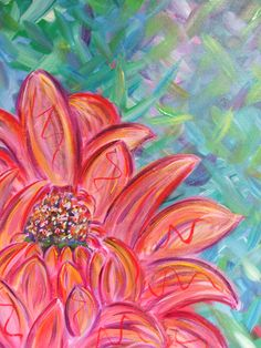 #Flower #painting by #Ann #Lutz.