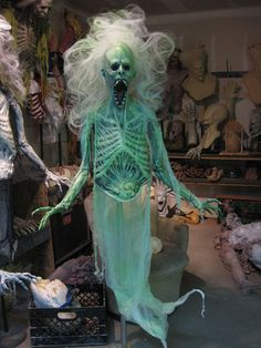 +Originally+Posted+by+Scatterbrains Very+cool.would+look+awesome+in+my+black+light+area yeh,+this+one+really+would. Scary Halloween Decorations, Halloween Haunted Houses, Creepy Halloween, Halloween Skeletons, Outdoor Halloween, Diy Halloween Decorations, Halloween Themes, Haunted House Props, Halloween Witches