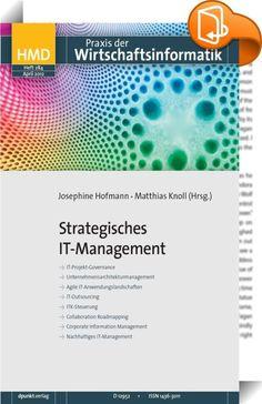 Strategisches IT-Management    ::  Systematisches strategisches Planen, Gestalten und Unterhalten von Informationssystemen, -architekturen und Datenmodellen ist zentrale Aufgabe der obersten Managementebene. Denn IT ist ein kritischer Faktor für den nachhaltigen Geschäfts- bzw. Organisationserfolg, egal ob es um die Unterstützung interner Prozesse oder das Angebot IT-basierter Dienstleistungen und Produkte geht.  HMD 284 gibt einen aktuellen Abriss über entsprechende Ansätze und Erfahr...