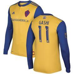 Shkelzen Gashi Colorado Rapids adidas 2017 Secondary Authentic Long Sleeve Jersey - Yellow