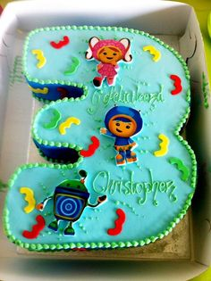 Team Umizoomi number 3 cake