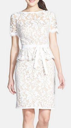 Cap sleeve lace peplum dress http://rstyle.me/n/pt9w9nyg6