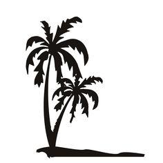 Top Selling PVC Waterproof Seaside Palm Tree Wall Decal Black Printed Scenery Wall Mural Sticker #Affiliate