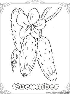 Vegetables Coloring Pages. Find free coloring pages, color pictures in VEGETABLES coloring pages. Print out and color t. Animal Coloring Pages, Coloring Book Pages, Coloring Pages For Kids, Coloring Sheets, Adult Coloring, Hand Embroidery Designs, Embroidery Patterns, Vegetable Coloring Pages, Farm Quilt
