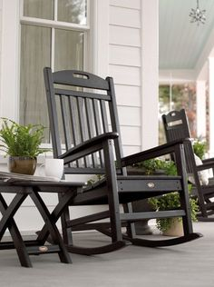 Trex Outdoor Furniture Yacht Club Charcoal Black Plastic Stationary Rocking Chair(s) with Slat Seat at Lowe's. You don't have to be on a yacht to enjoy the gentle rocking of the waves. The Trex® outdoor furniture™ Yacht Club Rocking Chair will