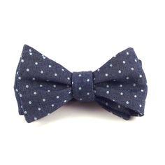 Denim Chambray Bow Tie, Men's Indigo Blue and White Denim Chambray Polka Dot Bowtie - Self Tie Bow Tie with Adjustable Hardware by danceCHICKENSdance on Etsy https://www.etsy.com/listing/241722815/denim-chambray-bow-tie-mens-indigo-blue