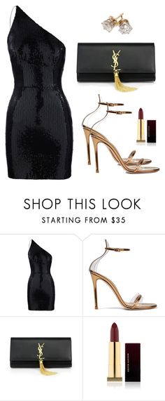 """Sem título #5360"" by beatrizvilar on Polyvore featuring moda, Gianvito Rossi, Yves Saint Laurent e Kevyn Aucoin"