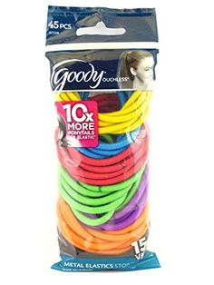 Goody Ouchless Pillow Pack 4 mm Elastics 45 Pcs >>> Check this awesome product by going to the link at the image. (This is an affiliate link)