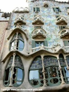 Casa Batlló - Barcelona, Spain  A magical design by Antoni Gaudi