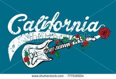 California Wild Rose and guitar College style graphic design vector art California Sunset, California Wedding, Flower Vector Art, Punk Songs, City Vector, Tattoo Graphic, Free Vector Graphics, Branding Design, Lettering