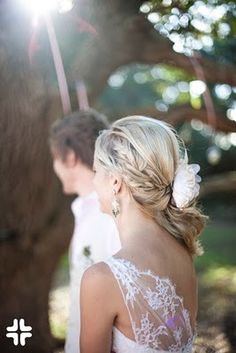love the hair. gorgeous relaxed wedding style