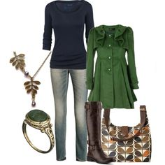 """navy & green"" by lagu on Polyvore"