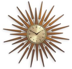 Newgate Pluto 1950s-style starburst clock, I basically don't like these but you can't have a mid-century board without at least one star burst clock