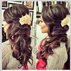 Wedding day hair!:) minus braids