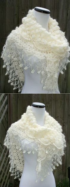 Love Crochet, Crochet Motif, Irish Crochet, Crochet Shawl, Crochet Yarn, Crochet Patterns, Knitted Shawls, Crochet Scarves, Crochet Clothes