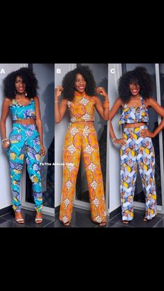 Two peice African dress would wear this