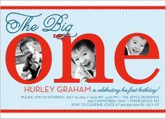 The Big One Boy Birthday Invitation