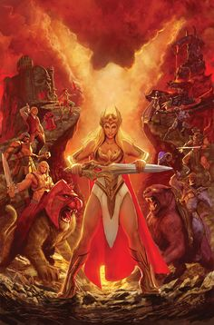 DC Comics has given The Mary Sue an exclusive look at Princess Adora's transformation into She-Ra in He-Man Masters of the Universe Steven Universe, Universe Art, Anime Sexy, Thundercats, Comics Anime, Dc Comics, Image Comics, Gi Joe, Comic Books Art