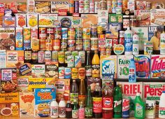 1980's Shopping Basket 1000 Piece Jigsaw Puzzle
