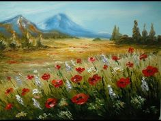 """The Beauty of Oil Painting, Series 1, Episode 15, """" Pastel Poppies """" - YouTube"""