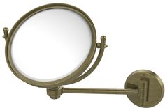 Wall Mounted Make-Up 2X Magnification Mirror with Groovy Detail
