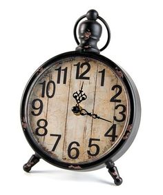 Look what I found on #zulily! Black Vintage Wall/Table clock #zulilyfinds