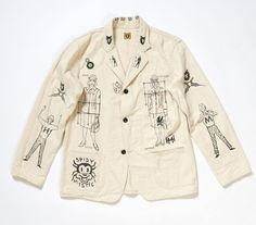 To know more about HUMAN MADE Cotton Jacket, visit Sumally, a social network that gathers together all the wanted things in the world! Featuring over 228 other HUMAN MADE items too! Look Fashion, Fashion Details, Fashion Art, Fashion Outfits, Fashion Design, Fashion Trends, Custom Clothes, Diy Clothes, Inspiration Mode