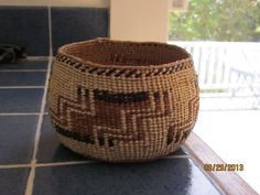 Small Hupa Indian Basket