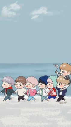 Bts Anime, Bts Backgrounds, Bts Drawings, K Pop, Bts Chibi, Bts Lockscreen, Kpop Fanart, Bts Fans, Jung Hoseok