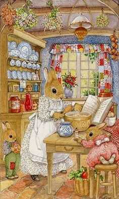 susan wheeler art – Yahoo Image Search Results - Easter Bunny Pictures Susan Wheeler, Beatrix Potter, Art And Illustration, Rabbit Illustration, Lapin Art, Art Fantaisiste, Art Mignon, Rabbit Art, Bunny Art