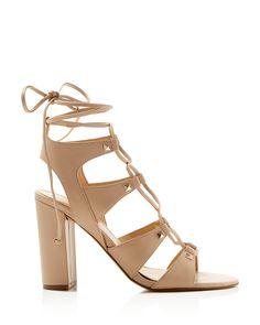 IVANKA TRUMP Kavita Lace-Up High Heel Sandals - Compare at $140   Bloomingdale's