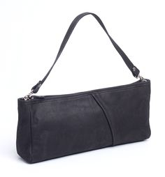 Clutch bag, in genuine leather, zipper closed. Detachable shoulder strap which can be used also for attaching the bag on the wrist. Inside pocket closed with zipper. Can be assorted with both casual or formal outfits. Dimensions: 38*17*8 cm